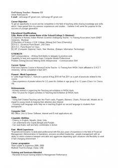 Cv Format For Job, Job Resume Format, Teacher Resume Template, Resume Template Free, Resume Structure, Curriculum Vitae Format, Primary School Teacher, Jobs For Teachers, Teaching Jobs