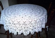 crochet pattern vintage wedding tablecloth | Online Crochet Patterns | Pineapple Tablecloth Crochet Pattern