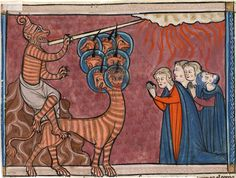 Apocalypse: False Prophet and Beast   Apocalypse   France, probably Lorraine   1290-1299   The Morgan Library & Museum
