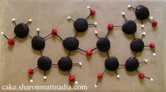 creating molecule themed decoration from candies would be fun too for on the cake.