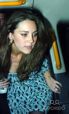 Kate Middleton leaving Mahiki nightclub in Mayfair where Prince William went after his split was announced
