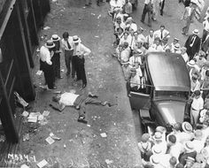 A stock broker who had jumped out of a building after hearing new of the stock market crash, Wall Street, October 29th, 1929.
