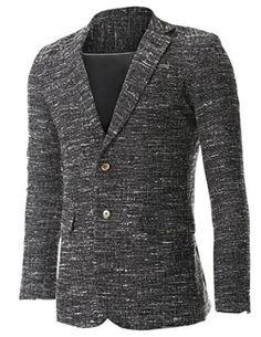 FLATSEVEN Mens Tweed Multi Woven Wool Blazer Jacket  #jackets #fashions #mens blazer #blazer #clothes #blackfriday #cybermonday