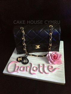 40th Birthday Cake - #Chanel Handbag Cake