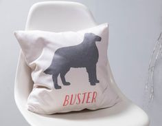 Cuddle up on the sofa with a personalised pet cushion. The perfect cushion for any dog lover.