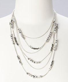 Look at this #zulilyfind! Silver Line Necklace by ZAD #zulilyfinds