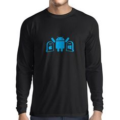 N4215L Long sleeve t shirt men The Winner is Android gift t-shirt >>> Read more reviews of the product by visiting the link on the image.