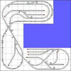 Track Plans and Ideas – Trainz Ho Train Track, Lego Train Tracks, Lego Track, Ho Scale Train Layout, Ho Train Layouts, Lionel Trains Layout, Escala Ho, N Scale Model Trains, Model Railway Track Plans