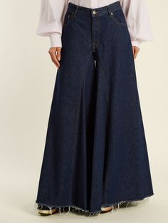 Click here to buy MM6 by Maison Margiela Mid-rise flared wide-leg jeans at MATCHESFASHION.COM
