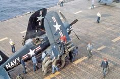 """Corsair. Dad (Harold """"Sonny Boy"""" Levings) flew these from the aircraft carrier when he served in the Navy during WW II."""