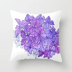 Hydrangea Throw Pillow by Sofia Perina-Miller - $20.00