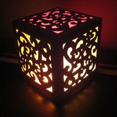 lampe carton calque