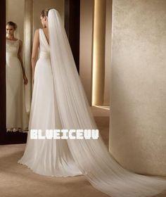 Romantische 2-tier weich, Kathedrale Braut Hochzeit Schleier mit Kamm 3m lang | eBay