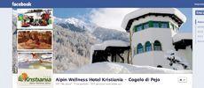 Impostazione grafica copertina Fan Page di Facebook dell'Hotel Kristiania