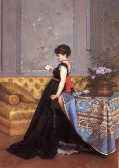 'The Letter' 1870. Auguste Toulmouche