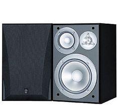 Yamaha 3-Way Acoustic Suspension Bookshelf Speakers