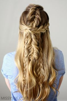 Half Up Mermaid Braids