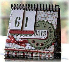 Christmas Countdown Calendar in Wassail by PickleTree - Cards and Paper Crafts at Splitcoaststampers Christmas Branches, Merry Christmas, Christmas Makes, Christmas Holidays, Xmas, Christmas Countdown Calendar, Flip Calendar, Christmas Scrapbook, Christmas Projects