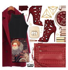 """Yoins VI"" by pastelneon ❤ liked on Polyvore featuring moda, Valentino, Giuseppe Zanotti, Michael Kors, Gucci, Charlotte Tilbury, Yves Saint Laurent, M&Co i Pieces"