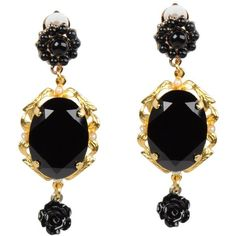 DOLCE & GABBANA Earrings (4.384.050 IDR) ❤ liked on Polyvore featuring jewelry, earrings, accessories, black, acessorios, bead jewellery, earring jewelry, earrings jewellery, beading jewelry and logo earrings