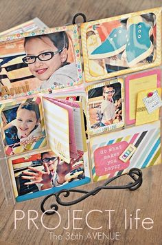 Floating DIY Small Memory Book TUTORIAL for Project Life pages... Love this! #AmericanCrafts #ProjectLife