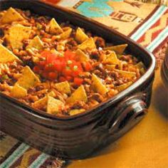 Points Plus Taco Casserole Recipe - 8 points for one serving out of 6 servings total.  JG with ground beef