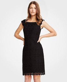 26c00a7681 Shop Ann Taylor for effortless style and everyday elegance. Our Lace Sheath  Dress is the perfect piece to add to your closet.