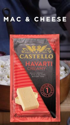 Our Castello Creamy Havarti cheese takes your mac & cheese recipe game to the next level. Try this quick easy meal for dinner today, and find more dinner recipe here. Havarti Cheese, Mac Cheese, Macaroni And Cheese, Creamy Mac And Cheese, Mac And Cheese Homemade, Cheese Recipes, Pasta Recipes, Cooking Recipes, Fall Recipes