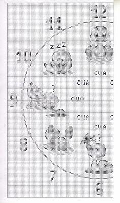 l\'horloge les enfants les canards (2)