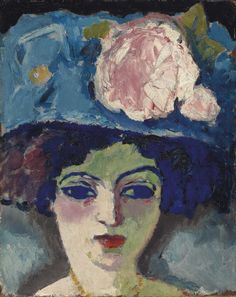 Kees van Dongen - Femme au chapeau fleuri, ca 1905