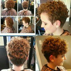very cute short curls!