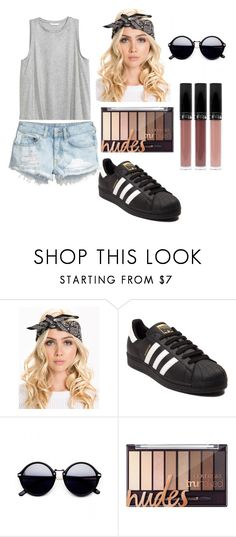"""""""basic outfit"""" by iulia-ab ❤ liked on Polyvore featuring H&M and adidas"""