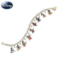 Disney • Mickey through the years • charm bracelet // bling