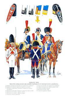 Spagna Divisione De La Romana e Truppe di Giuseppe Bonaparte 1808