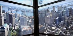The elevators inside One World Trade Center....