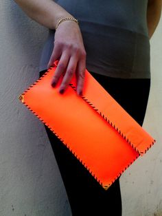 Leather Clutch  by AnaKoutsi