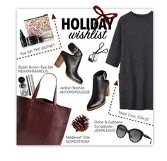 """Winter cozy"" by magdafunk ❤ liked on Polyvore featuring Bobbi Brown Cosmetics, Madewell, Toast, Dolce Vita, Dolce&Gabbana, contestentry and 2015wishlist"