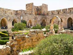 Jerusalem, Israel - Public Spaces, courtyard of the Tower of David Museum (מגדל דוד) Migdal David, Old City (העיר העתיקה)