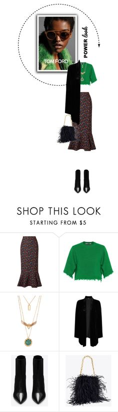 """Power Look"" by shambala-379 ❤ liked on Polyvore featuring Saloni, Valentino, Eileen Fisher and Yves Saint Laurent"