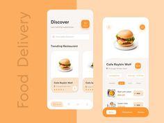 Stunning Food & Drink Mobile App UI Design Sample 2019 – Make Mobile Applications Layout Design, App Ui Design, Interface Design, Flyer Design, Web Layout, Design Color, User Interface, Mobile App Design, Mobile App Ui