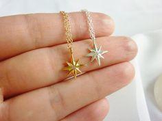tiny gold star neckalcenorthern star necklacestar by MomentusNY, $29.00