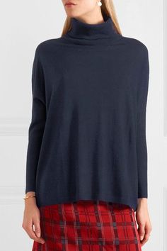 Allude - Wool Turtleneck Sweater - Midnight blue - x small