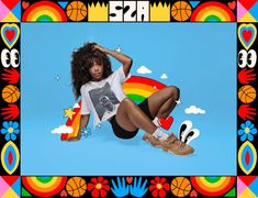 """SZA x Jordans """"Walking through the fear brings freedom and weightlessness… no matter the outcome. Self Image, Poster Layout, Air Max 270, Out Of This World, Creative Inspiration, Book Design, Photo Book, New Books, Illustration Art"""