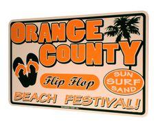 Orange County Flip Flop Festival Surf Sign at Surferbedding.com