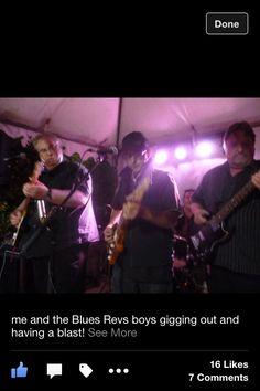 Blues Revs having fun