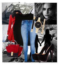 """""""Untitled #75"""" by gameofchancee on Polyvore featuring River Island, City Chic, Style & Co., Christian Louboutin, women's clothing, women, female, woman, misses and juniors"""