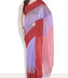 Buy Peach hand_woven handloom saree with blouse handloom-saree online