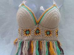 cropped color em crochê - parte 2
