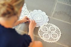 Doily Table Runner   Wedding DIY - Annapolis Wedding Blog for the Maryland Bride