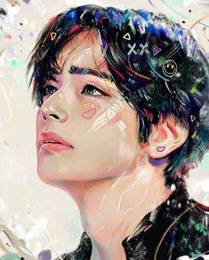 BTS Kim Taehyung V - Doodle - jigsaw puzzle pieces) Taehyung Fanart, Bts Taehyung, Jimin, Daegu, Bts Photo, Foto Bts, Photo Wallpaper, Bts Wallpaper, Namjoon